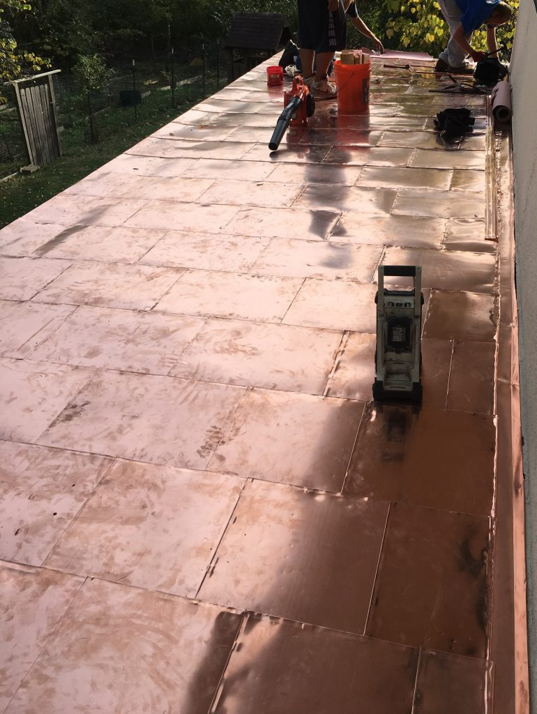 Flat Lock Copper Roof Fusion Roofing