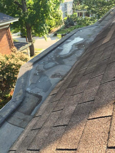 Cincinnati box gutter installation and repair fusion roofing for Leaking roof gutter
